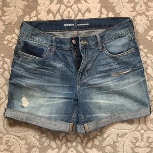 Boyfriend denim shorts- Old Navy- size 4